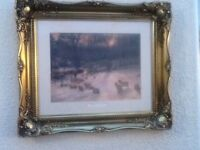 Picture with a Coloured Gold Edged Frame ( Joseph Farquharson)