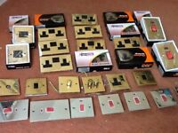 Large selection of brass and stainless steel sockets and switches