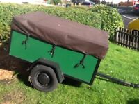 Trailer with drop down tailgate