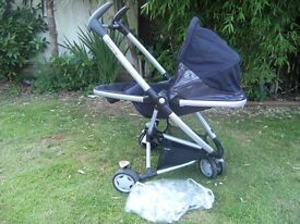 ,Quinny Zapp Xtra black Pushchair with raincover Paignton