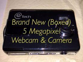 Xmas Gift - Brand New BRAND NEW IN BOX - Unused 5 Megapixel Webcam, Photo & Video Camera - SD Card