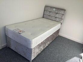 New Quality Single Size Divan Bed & Mattress