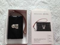 Genuine Michael kors wallet clutch with strap fits iPhone 3GS, 4,4s