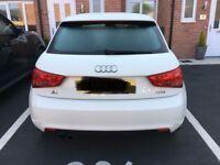 White Audi A1 TFSI