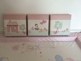 Next girls x3 set canvas