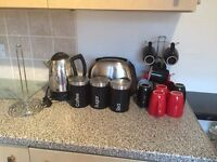 Matching kitchen set kettle and toaster