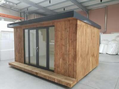 4m x 3m Self Build Insulated Garden Office DIY kit, Garden Room,...