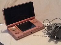 Nintendo 3DS in coral pink: charger comes with : Nintendo dogs &cats. With origina l box