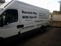 NORWICH MAN WITH VAN U.K 'VERY' LARGE VAN FOR HOUSE MOVES AND PICK UP AND DELIVERY SERVICE.