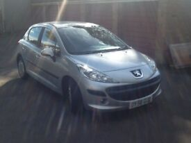 Peugeot 207s 1.4 hdi diesel 5 door silver only £30 a year road tax