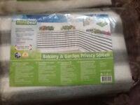 Screen - balcony &a garden privacy screen X 2