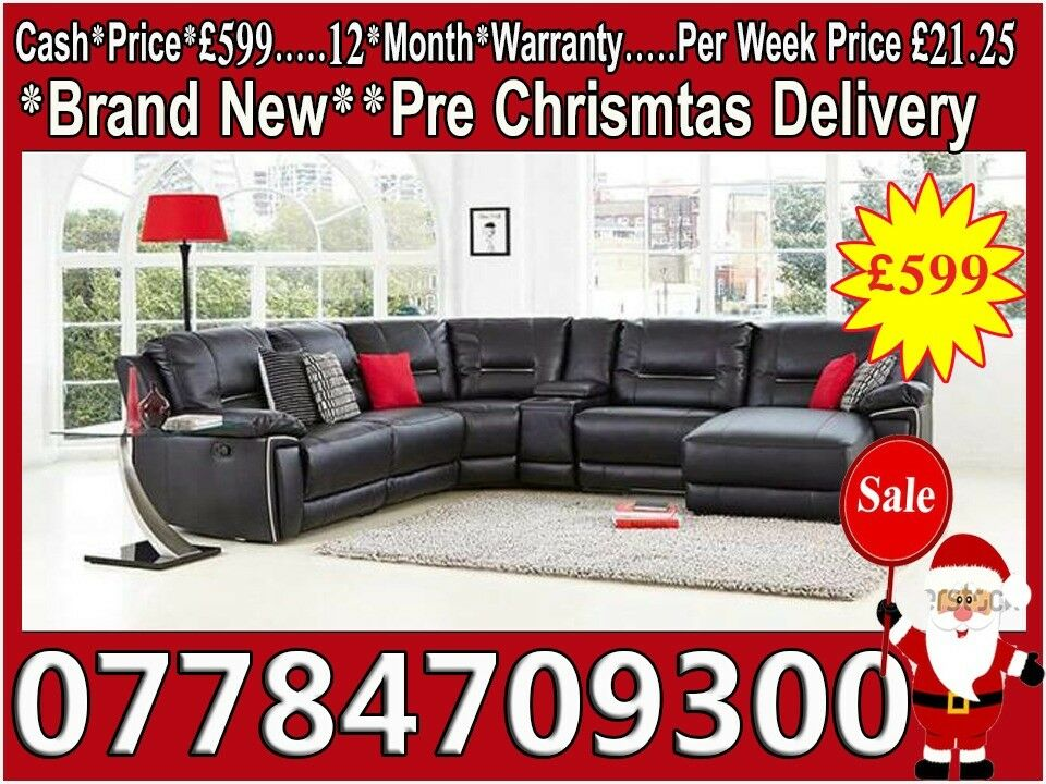 Sofa New Factory Direct Leather Pay Weekly