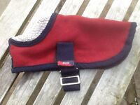 Thick lined fleece dog coat