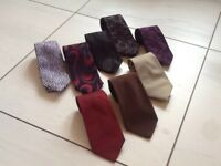 Genuine designer silk ties.