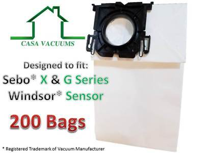 Casa Vacuums Windsor Sensor & Versamatic-Plus Vacuum Bags Also Sebo (200 Pack)