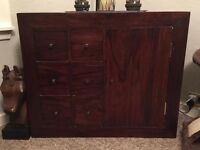 SOLID WOOD 6 DRAWER SIDEBOARD/TV UNIT