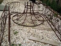 Architectural gazebo arch and arbour , antique wrought iron