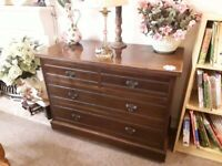Solid mahogany chest of drawers Copley Mill LOW COST MOVES 2nd Hand Furniture STALYBRIDGE SK15 3DN