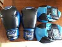 10oz boxing gloves and pads used a couple of times excellent condition