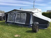 Ace Jubilee Courier Caravan 6 berth fixed bunks awning annexe