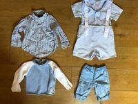 4 DESIGNER BOYS 12 -18 / 18-24 MONTHS RALPH LAUREN,BABY DIOR,PETIT AMI,BENETTON