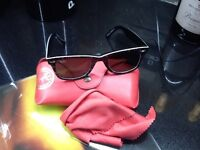 Ray Ban Wafarer designer sunglasses with case and cleaning cloth,cost £115,pos local delivery