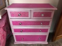 Upcycled & blinged chest of drawers
