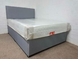 Single/double/king size divan base with optional mattress/headboard/drawers