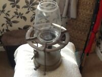 Vintage oil table lamp that you can make a cup of tea with
