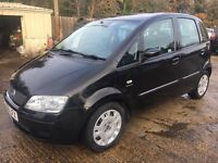 ** NEWTON CARS ** 07 56 FIAT IDEA 1.4 DYNAMIC, 5 DOOR, VGC, 6 SPEED, S/H, MOT JUL 2017, P/EX POSS