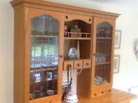 Kitchen cupboard and display unit