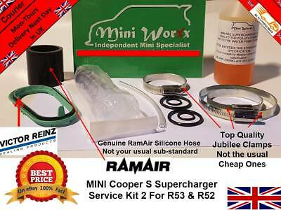 Mini Cooper S R53 R52 Supercharger Service Kit  JCW GP  02-06 (Std 2)