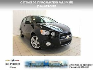 2016 CHEVROLET SONIC 5 LT TOIT. CAMERA. AUTO, TURBO,