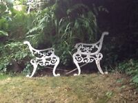 Wrought iron heavy bench ends