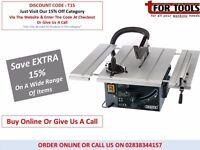 DRAPER 82570 250MM 1800W 230V EXTENDING TABLE SAW BTS255