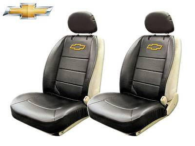 Chevrolet Chevy Elite Seat Covers Black Synthetic Leather Side Air bag Ready