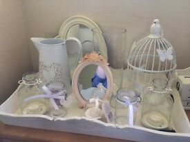 Selection shabby chic items