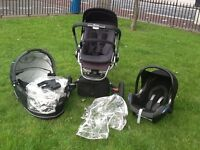 Quinny Buzz 3 - black Travel system with Maxi Car Seat + Carry Cot