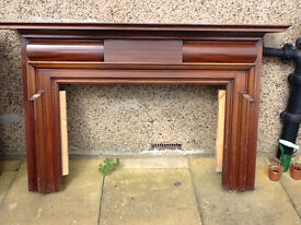 Wooden Vinatge Fireplace Surround 1970s