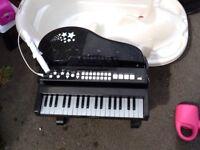 Kids grand piano with light up keys