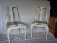 Chairs fully restored and covered in Laura Ashley fabric