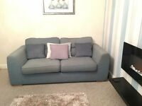 2 x two seater duck egg sofa's