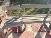 garden bench and 2 chairs good condition only £20.00