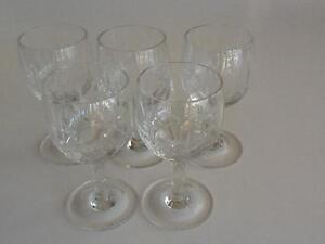 Crystal Sherry / Port Glasses x 5 Taren Point Sutherland Area Preview