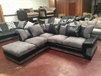 ¬¬ SAME DAY / NEXT DAY DELIVERY ¬¬ DINO JUMBO CORDED CORNER SOFA OR 3+2 SOFA SET AVAILABLE NOW