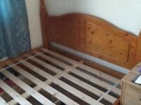 Pine king size bed frame