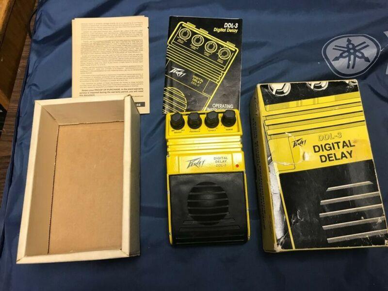 Peavey DDL-3 Digital Delay with manual, box, very good, vintage