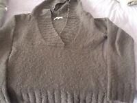 size 8 purple Fat Face woollen hooded jumper.