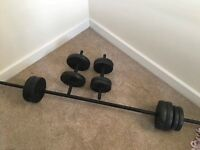 Barbell and Dumbell Set