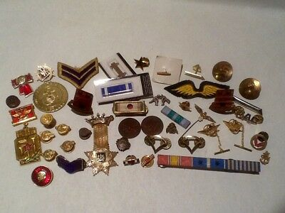 HUGE LOT MILITARY ITEMS - PINS.PATCHES.MORE - VINTAGE TO MODERN - LARGE VARIETY